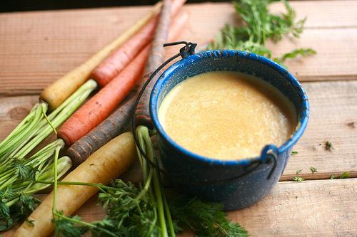 cream of carrot soup | talkoftomatoes.com