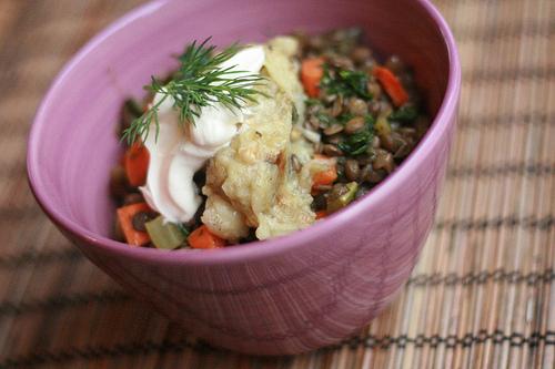 lentils and eggplant
