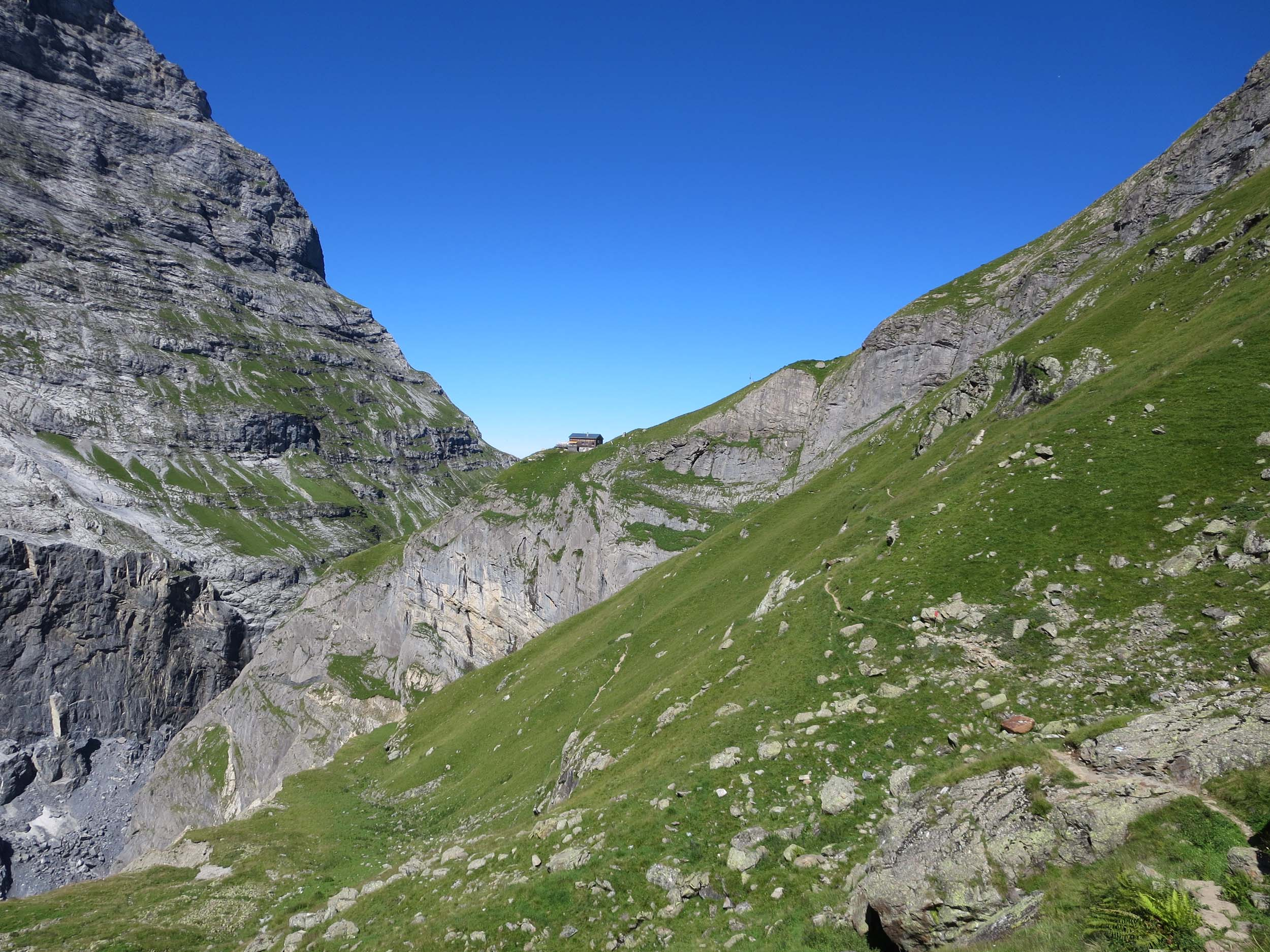 Blick zurück zur Bäregghütte