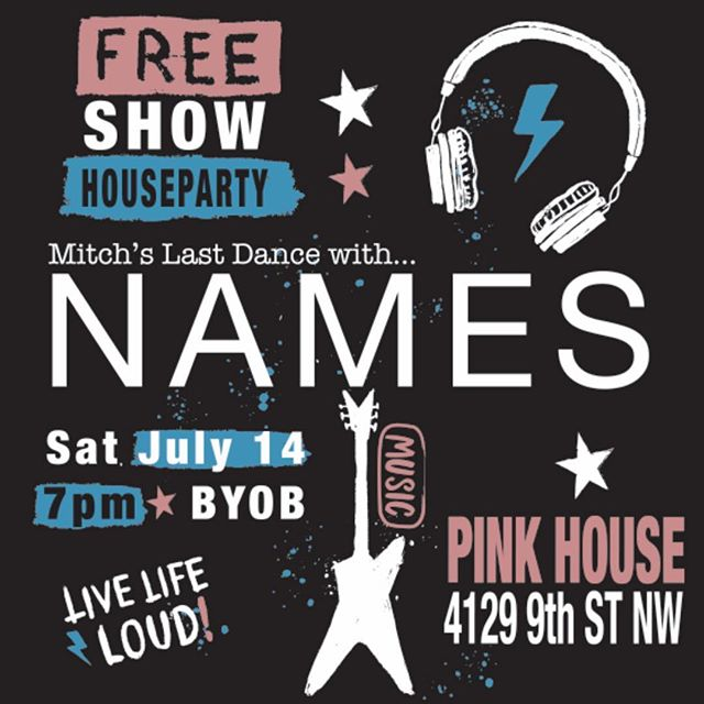 House party!!! Free NAMES show this evening at the infamous (more than famous) Pink House. 🤘⚡️🎉 . . . . #madeindc #dcartists #ourdistrictsart #supportlocalart #dcartist #bythings  #igdc #igdcfamily #vscodc #mydccool #underground_dc #dcfocused #dcitystyle #washingtondc #washingtondaily #dcmusic #dcmusicscene #dcmusicrocks #dcmusicvideos #localmusic #supportlocalmusic #supportlivemusic #localshows #allthingsgo #psychedelic
