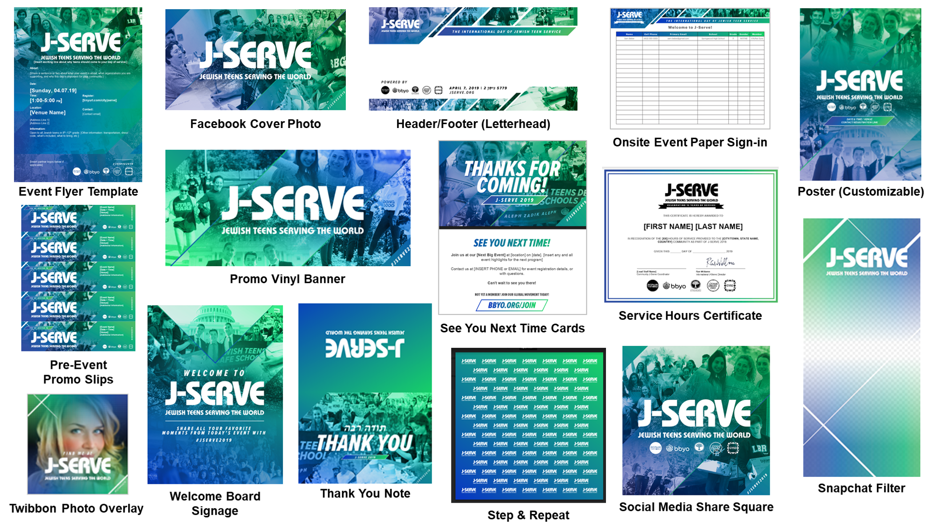 **NEW**   Full #JSERVE2019 Branding & Marketing Resources Suite