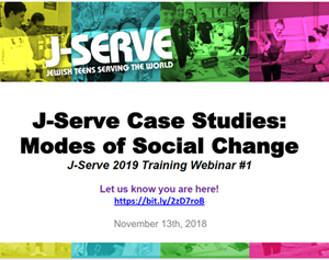 Training Webinar # 1 - J-Serve Case Studies: Modes of Social Change