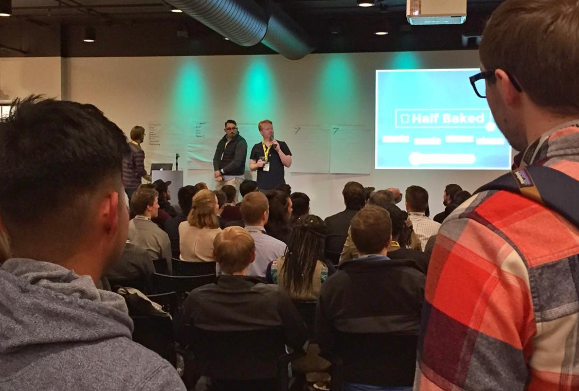 Initial Pitches at Startup Weekend 2017. Photo via  Start Garden