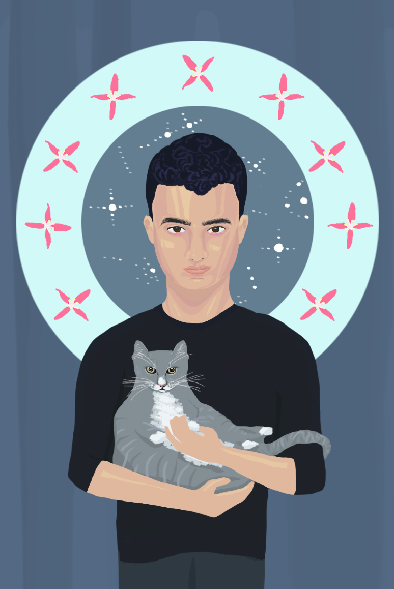 A self portrait of my cat in I from February 2017