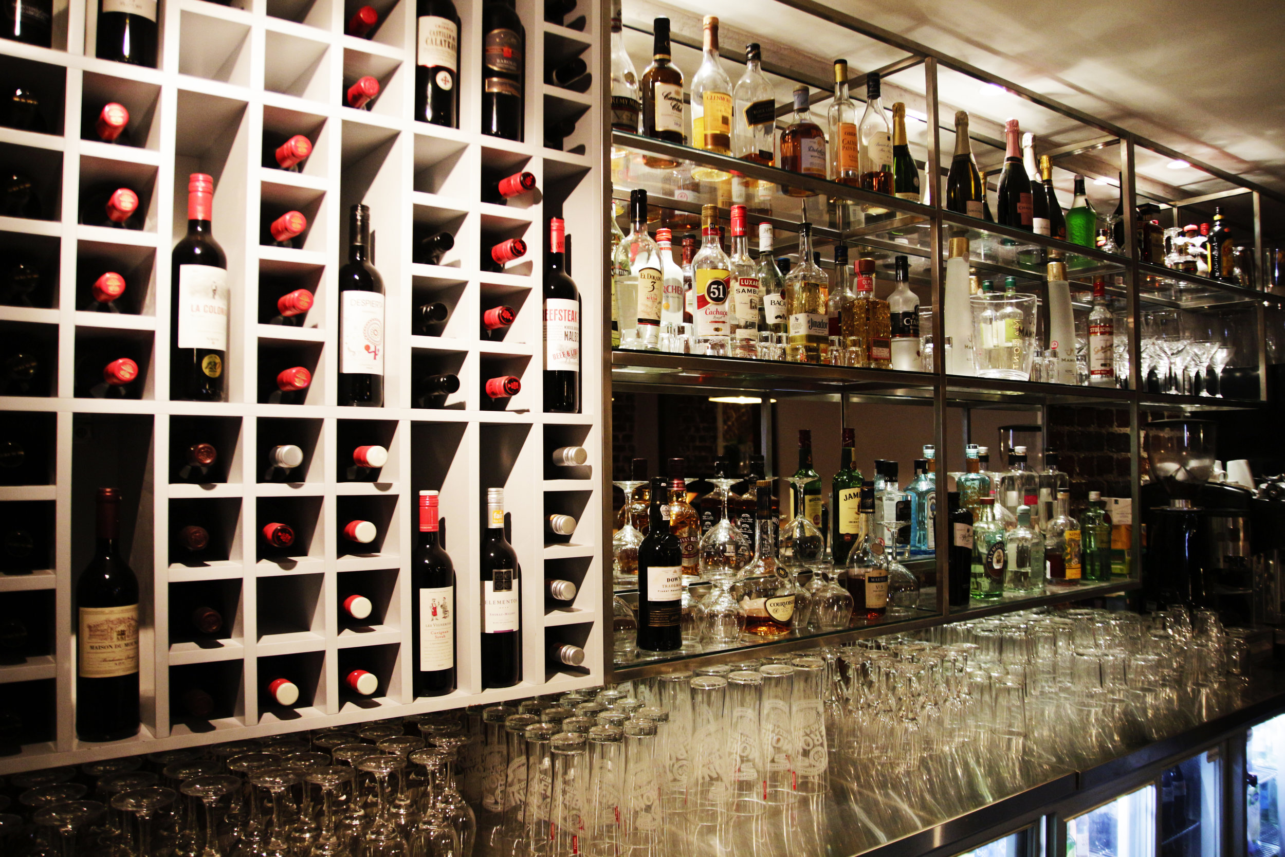 We have an extensive selection of beers, wines and spirits on offer