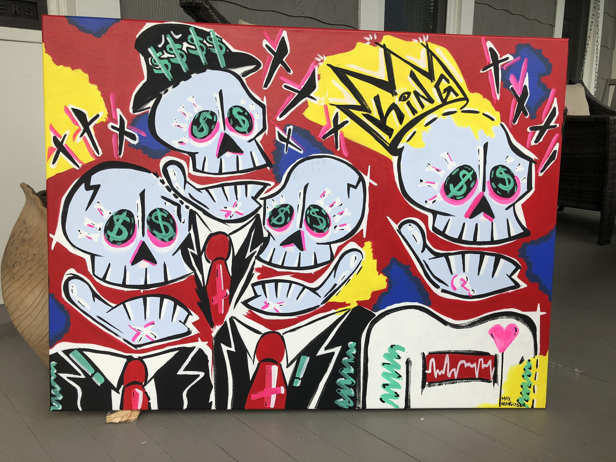 Hunger  (2ft.x3ft.)  -  acrylic & marker on canvas - $350.00  To purchase email  maxnungesser@gmail.com