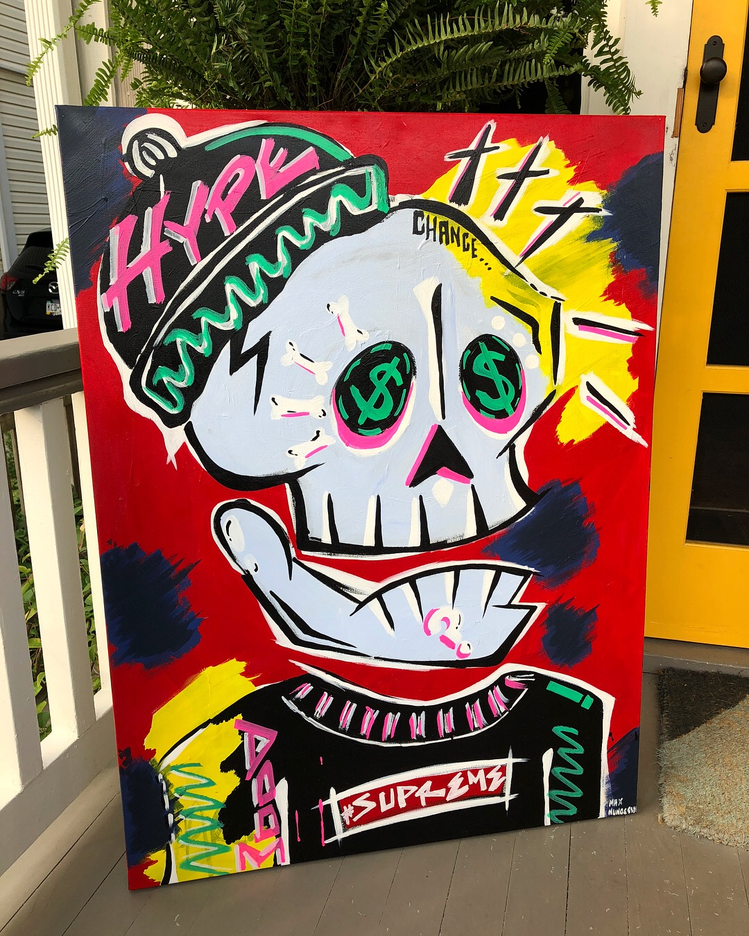 Blessed  (3ft.x2ft.) - acrylic & marker on canvas - $350.00  To purchase email maxnungesser@gmail.com