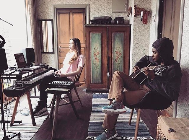 Good memories from working with @sarahclose in Sweden. What are some of your memorable recording moments?! Comment below!! 👇🏾
