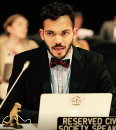 "Eddy Pérez - Eddy Pérez started working with CAN-Rac as the International Policy Analyst in February 2018 and has almost 10 years of experience campaigning on issues related to climate change, social justice, and citizen participation. He joined the climate movement in 2013 after being trained by Al Gore's Climate Reality Project in San Francisco. In 2014 he organized a Panamerican project to engage a discussion about climate change realities. In one month he visited 12 countries using only public transportation and met with almost 15,000 people from different parts of the American Continent. This experience motivated him to make climate change his full-time commitment.Eddy's past experience includes being the Leadership Corps Coordinator for the Climate Reality Project Canada and working at the IPCC-Secretariat in Geneva while he was completing his Masters in climate governance with a specific focus on the IPCC as an epistemic community and how it affects the participation of underrepresented groups.He is the Finance Working Group Coordinator for Climate Action Network International and enjoys coordinating policy at international climate conferences and conventions. Eddy likes poetry and attributes his passion to climate justice to the work of Eduardo Galeano. One of his favourite quotes from this author is: ""Recordar, from the Latin records, to pass back through the heart""."
