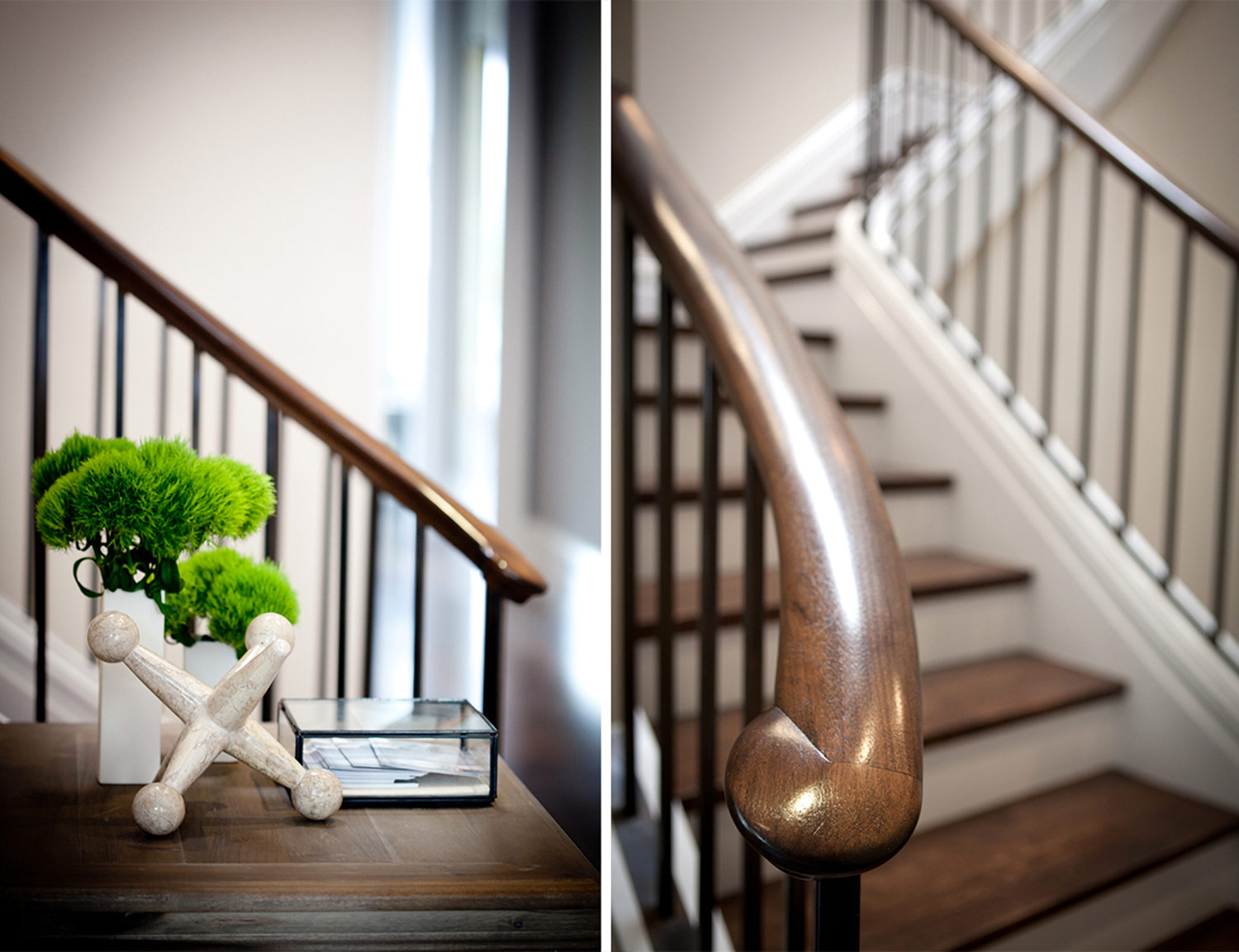 staircase, spiral staircase, accessories, stair railing, hardwood floors