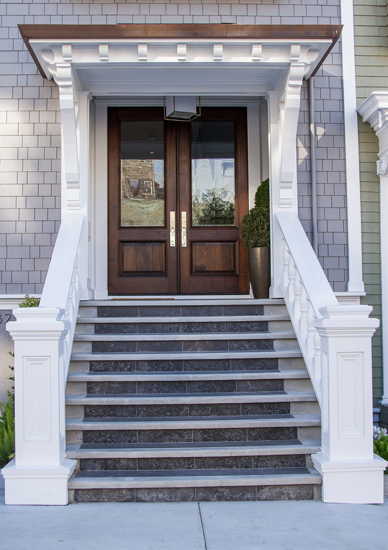 marble, steps, exterior, white, elegant, san francisco homes, front door, entryway, wood