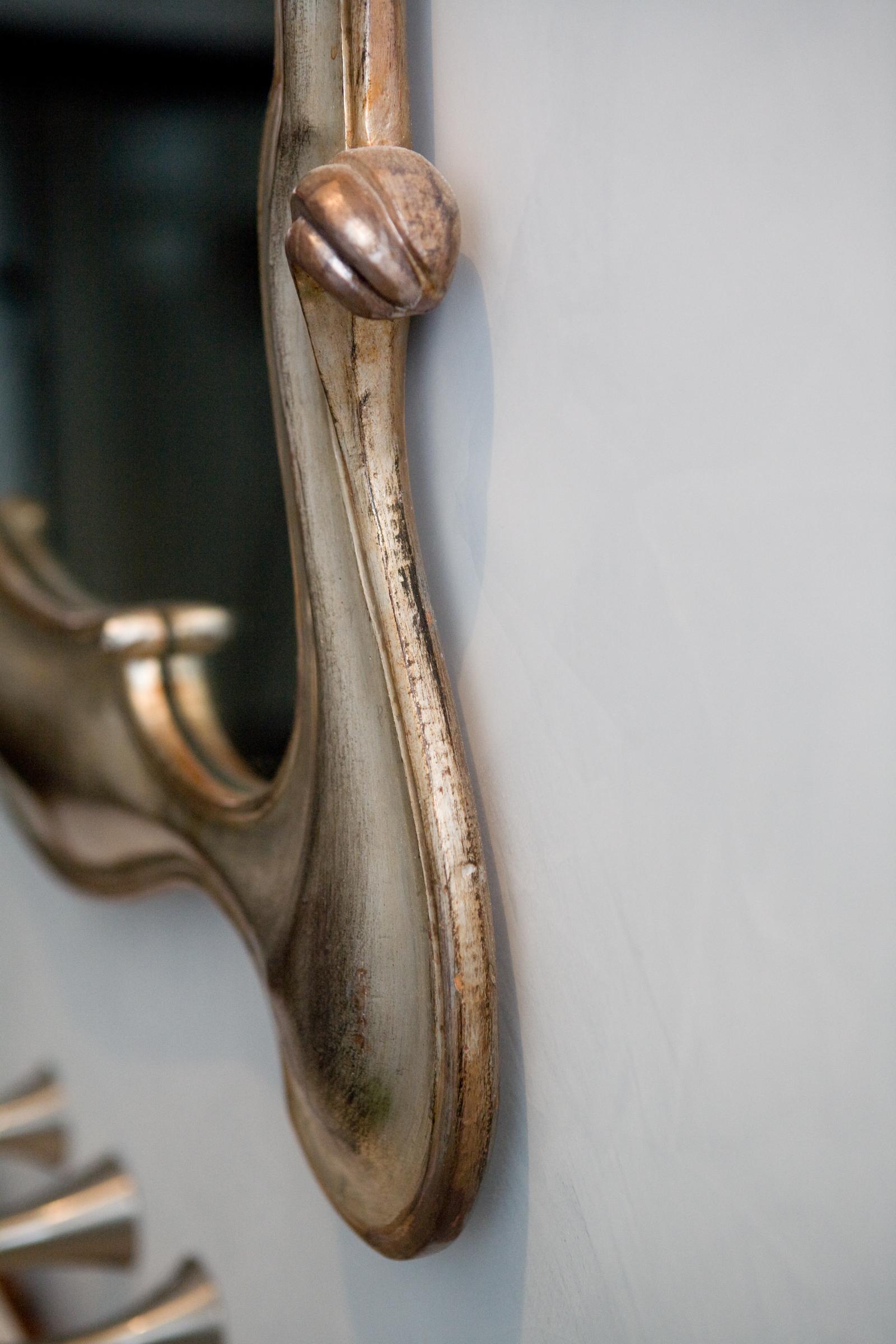 detail, bathroom, mirror, gold, elegant