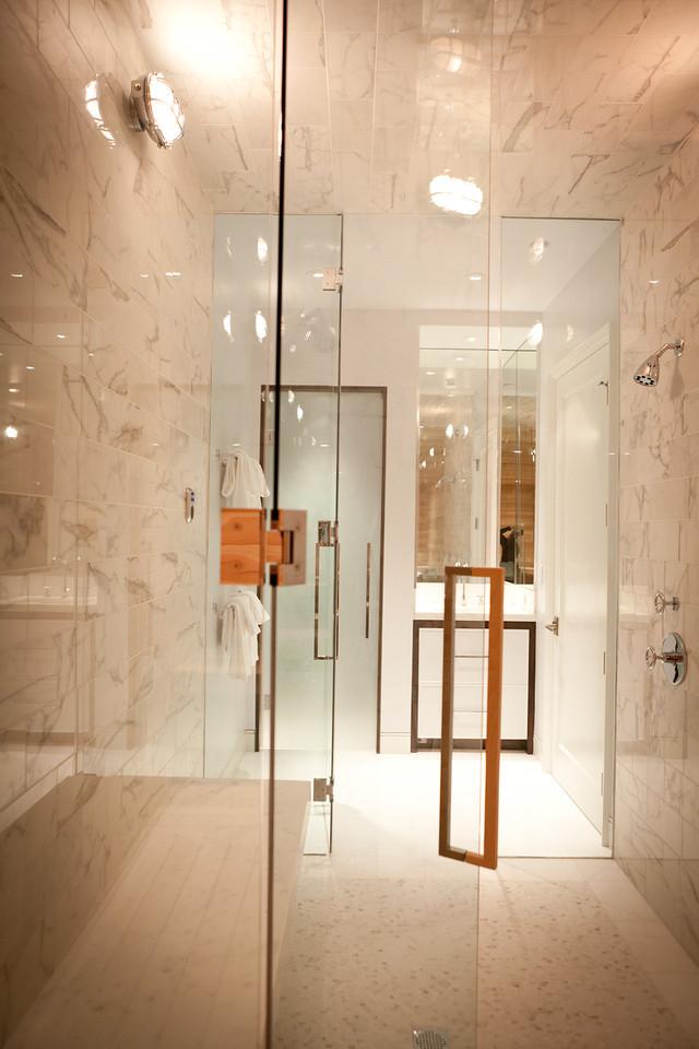 bathroom, modern, faucet,white marble , sauna, shower