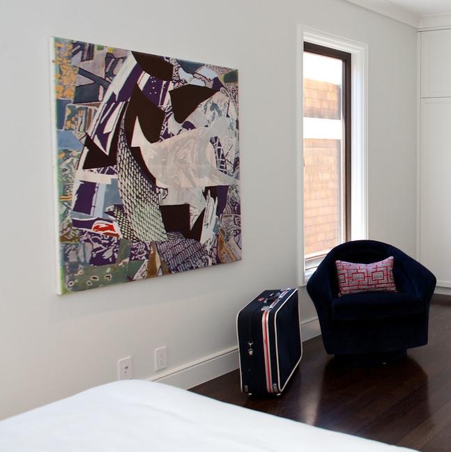 modern bedroom, chair, club chair, clean, white room