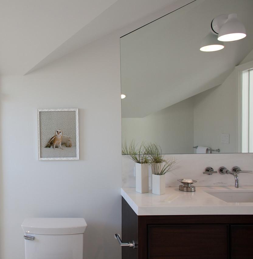 bathroom, modern bath, vanity, shower, sink, faucet