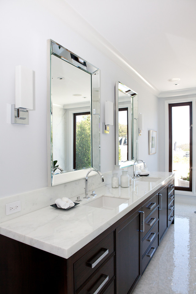 bathroom, modern, vanity, sink, faucet, his and hers bath, bathroom mirror, bathroom lighting