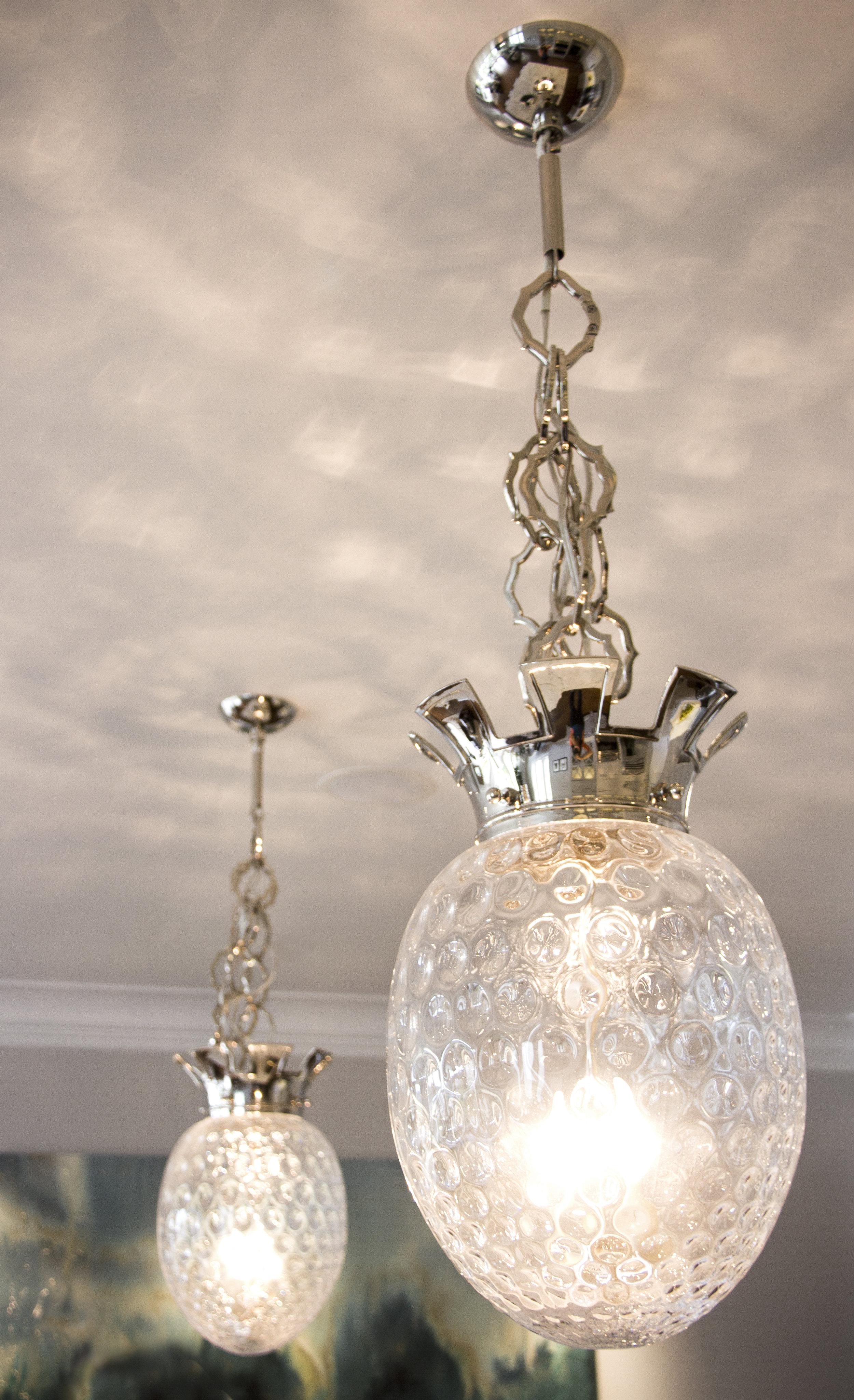 kitchen, lighting, chandelier, simple, details, glass, elegant