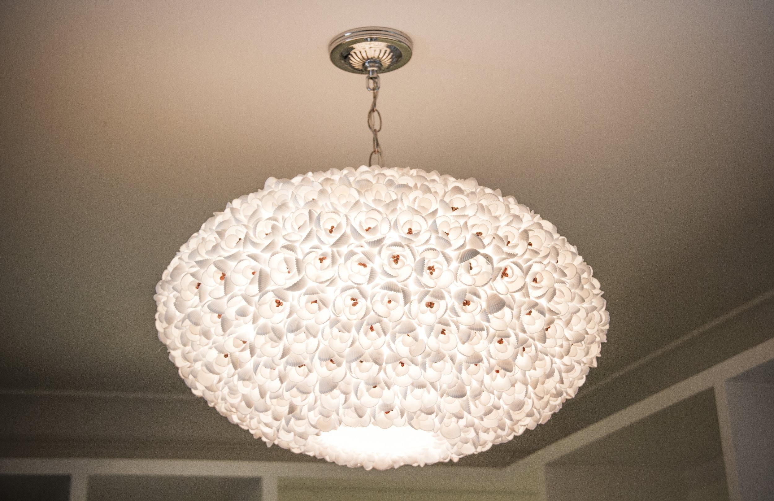 chandelier, modern, elegant, white, lighting