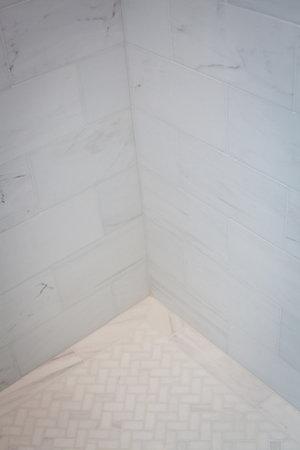 carrara marble, herringbone marble, shower, modern, white, fresh