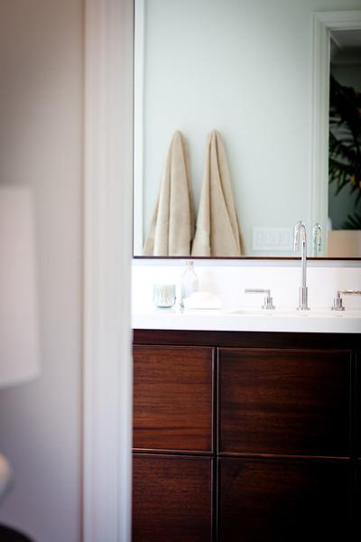 modern vanity, bathroom, mirror, modern, dark stained wood
