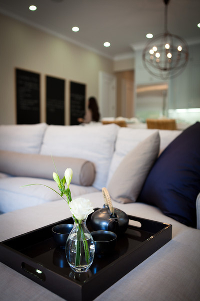 living room, detail, family room, accessories, tray, couch, sofa