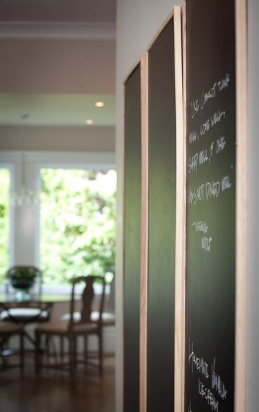 kitchen, detail, chalkboard