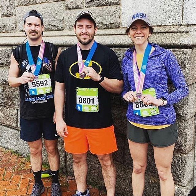 Shout out to our very own Secret Duck (on the left) for running the Monument Avenue 10k this Saturday. A little rain doesn't bother him. It probably only made him faster. 😏🦆🌧 • • • • • #thecreatorclass #bevisuallyinspired #shareyourwork #mentoring #agencylife #peoplescreatives #lecture #rva #workhardplayhard #livecolorfully #creativeagency #creativeminds #socialbusiness #visualsoflife #flashesofdelight #leadership #createcommune #nothingisordinary #chasingemotions #enjoytheprocess #livethelittlethings #branding #10k #richmondrunning #monumentave10k #ukrops10k