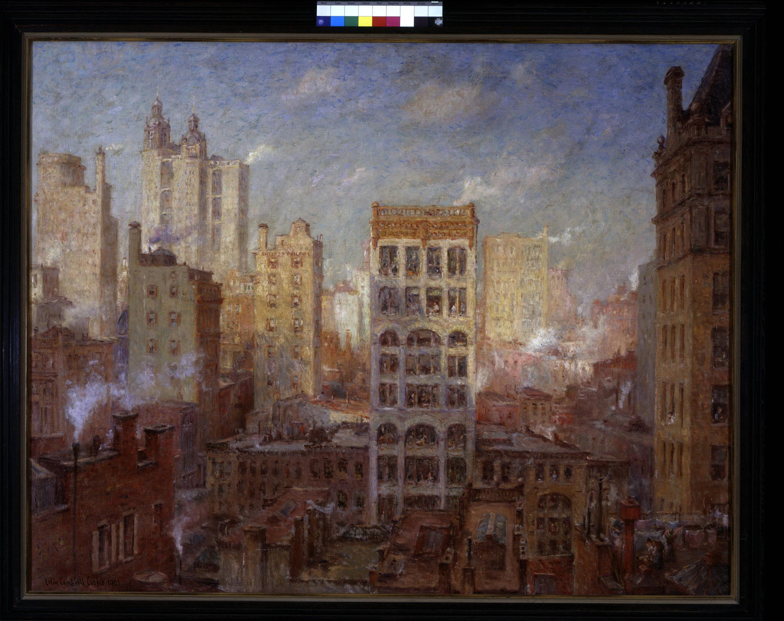 Colin Campbell COOPER   Cliffs of Manhattan   1903