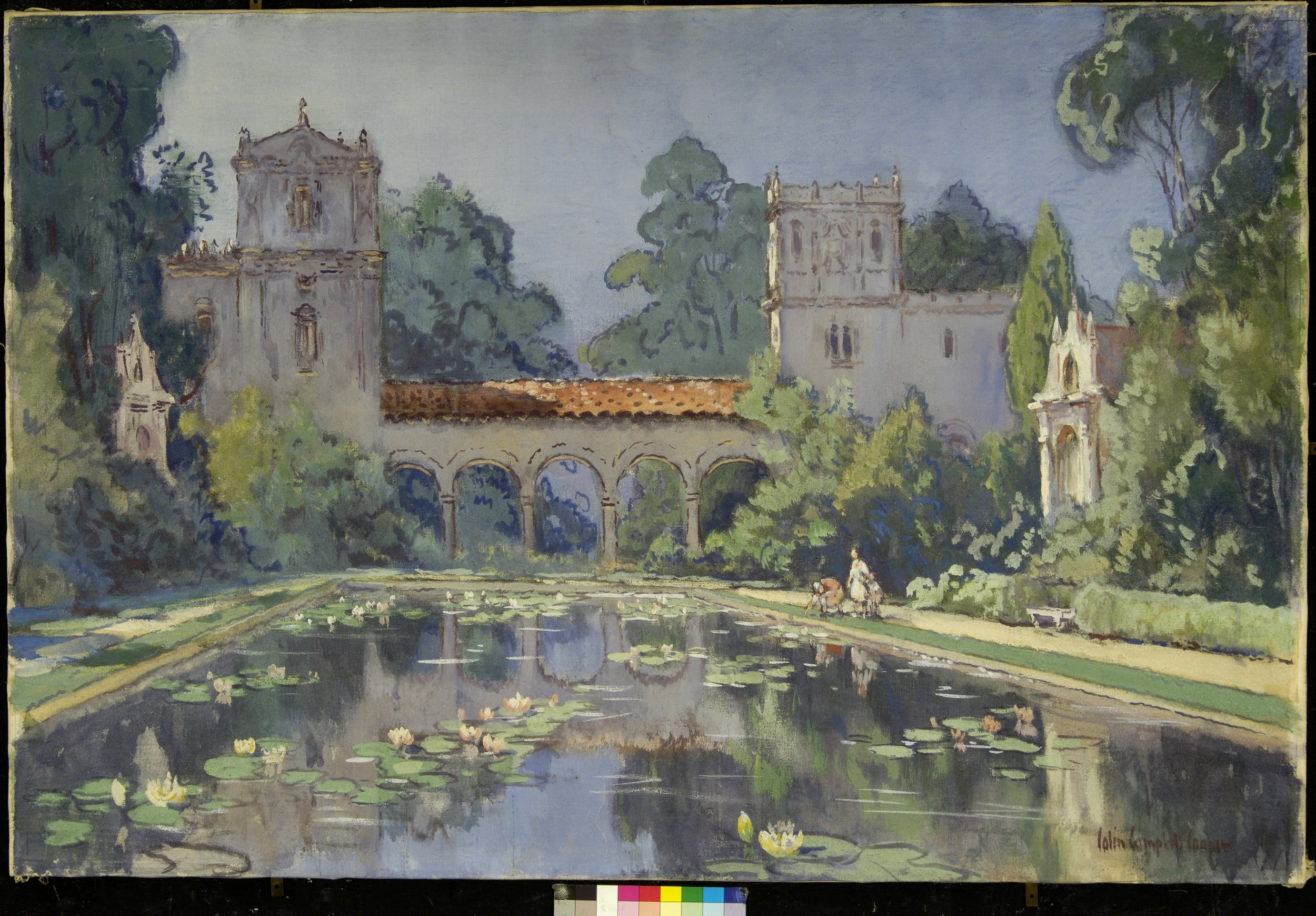 Colin Campbell COOPER   Lily Pond, Balboa Park   c. 1916