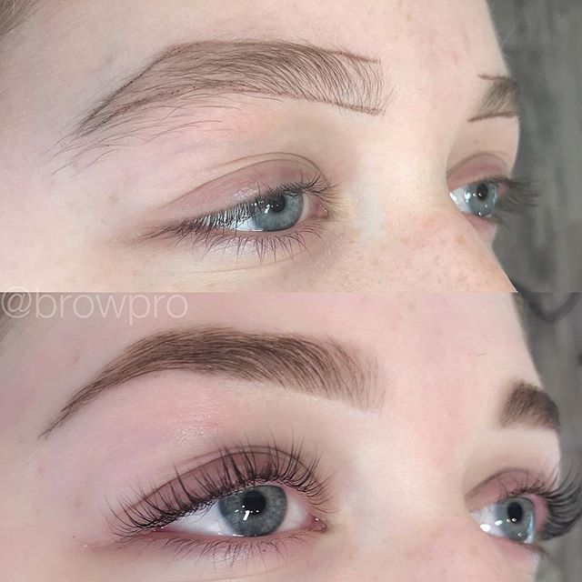 Custom brow mapping, tint shaping & a killer lash lift and tint! Her natural lashes are crazy good!! 🦋🦄