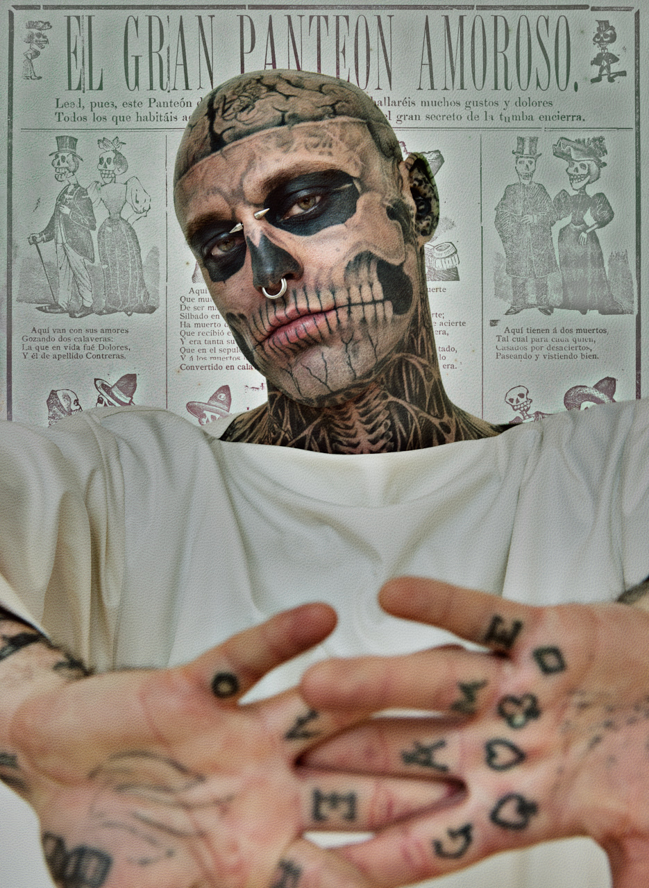 Zombie Boy Iconic Fashion Image by photographer Nelson Huang artist Justin Atkins.JPG