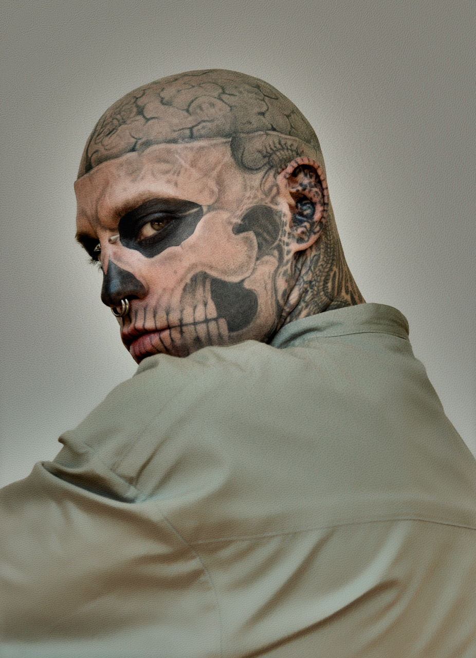 Zombie Boy Iconic Fashion Image 2 by photographer Nelson Huang artist Justin Atkins.JPG
