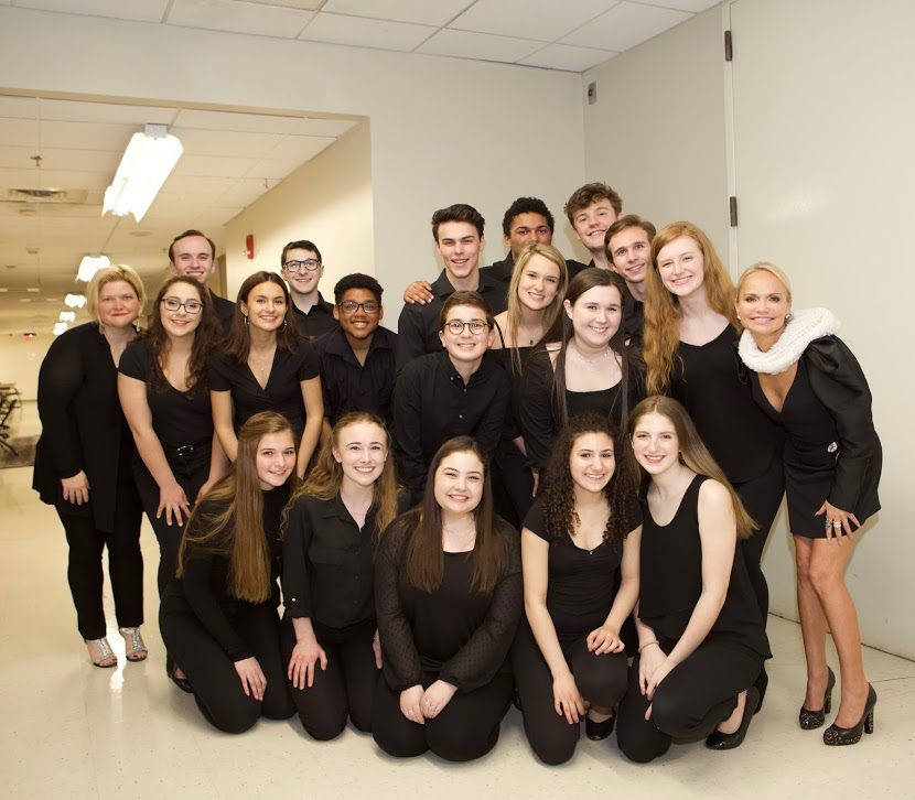 Mentors  Kristen Chenoweth  and  Mary-Micchell Campbell  with our students after performance.