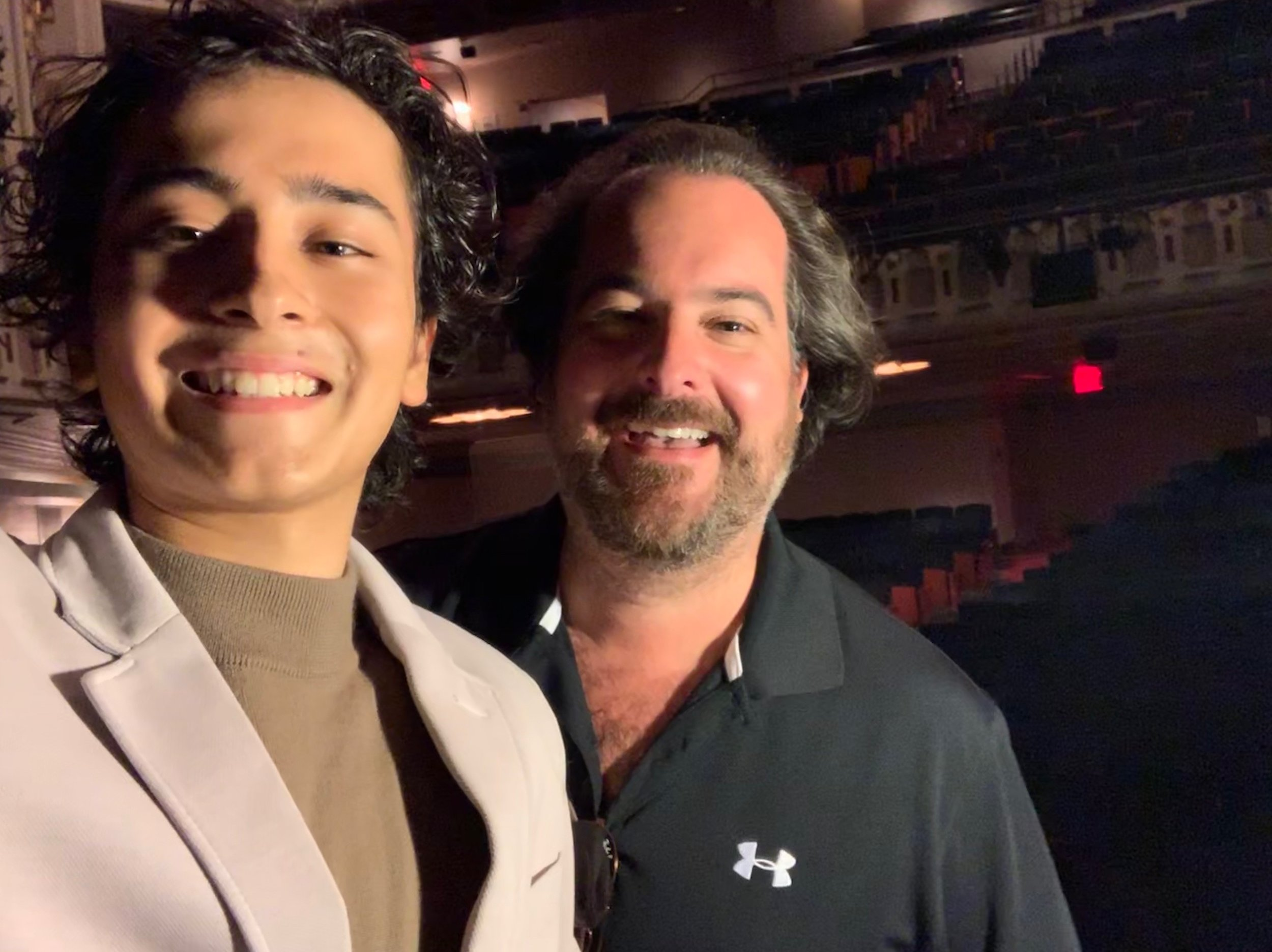 YAA Alum, Mateo Ferro with Artistic Director and Co-Founder of YAA, Rolando Sanz