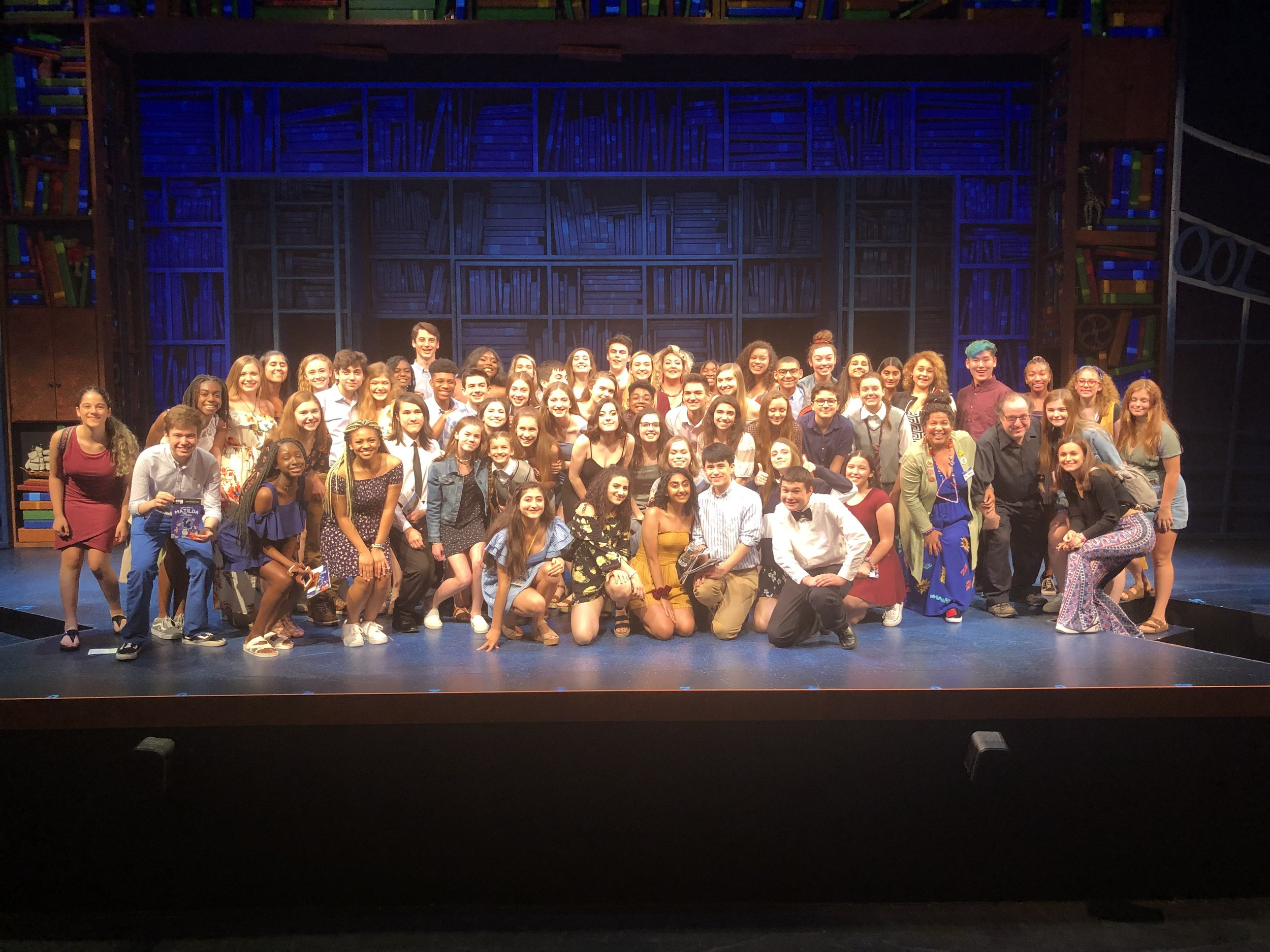 70 YAA students at the July 4th show