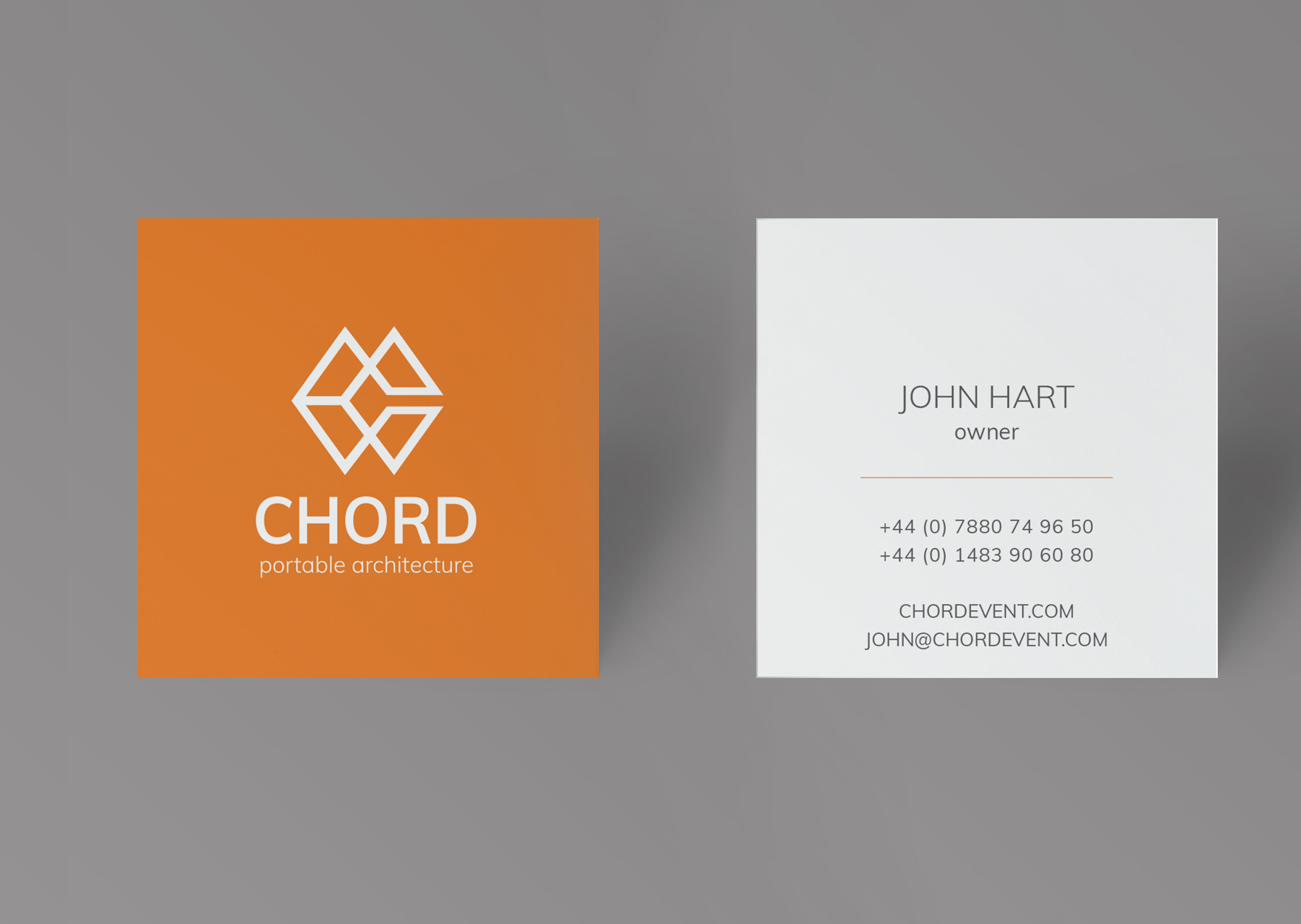 CHORD EVENT: New logo design and business card