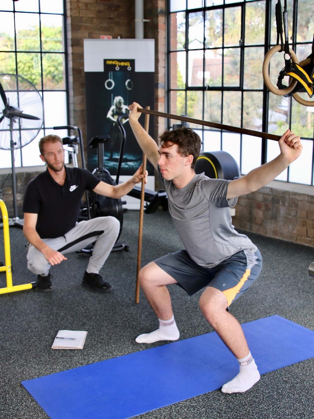 Hip and shoulder strength and mobility - achieved through overhead squat movement - can protect these joints from injury.
