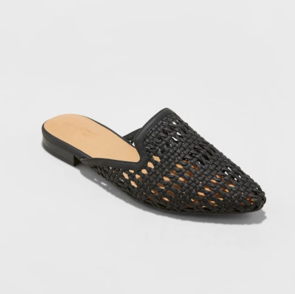 black woven loafer-inspired mule from target