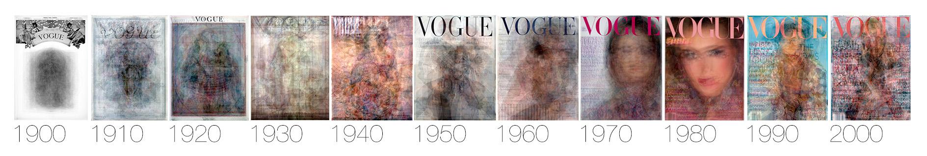 robots reading vogue 1900 - 2010 from yale university
