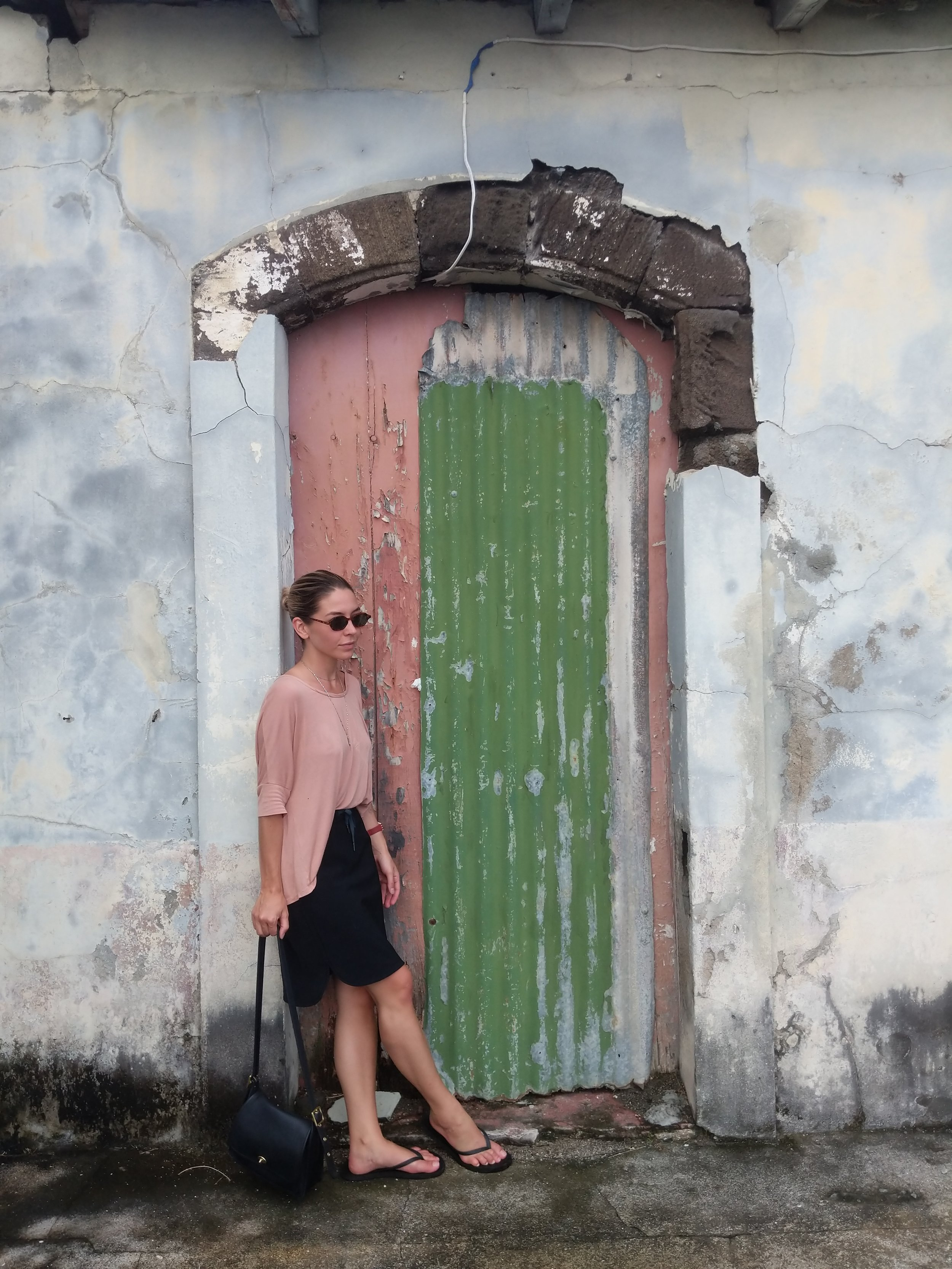 travel outfit leanne luce in grenada caribbean island off the coast of venezuela