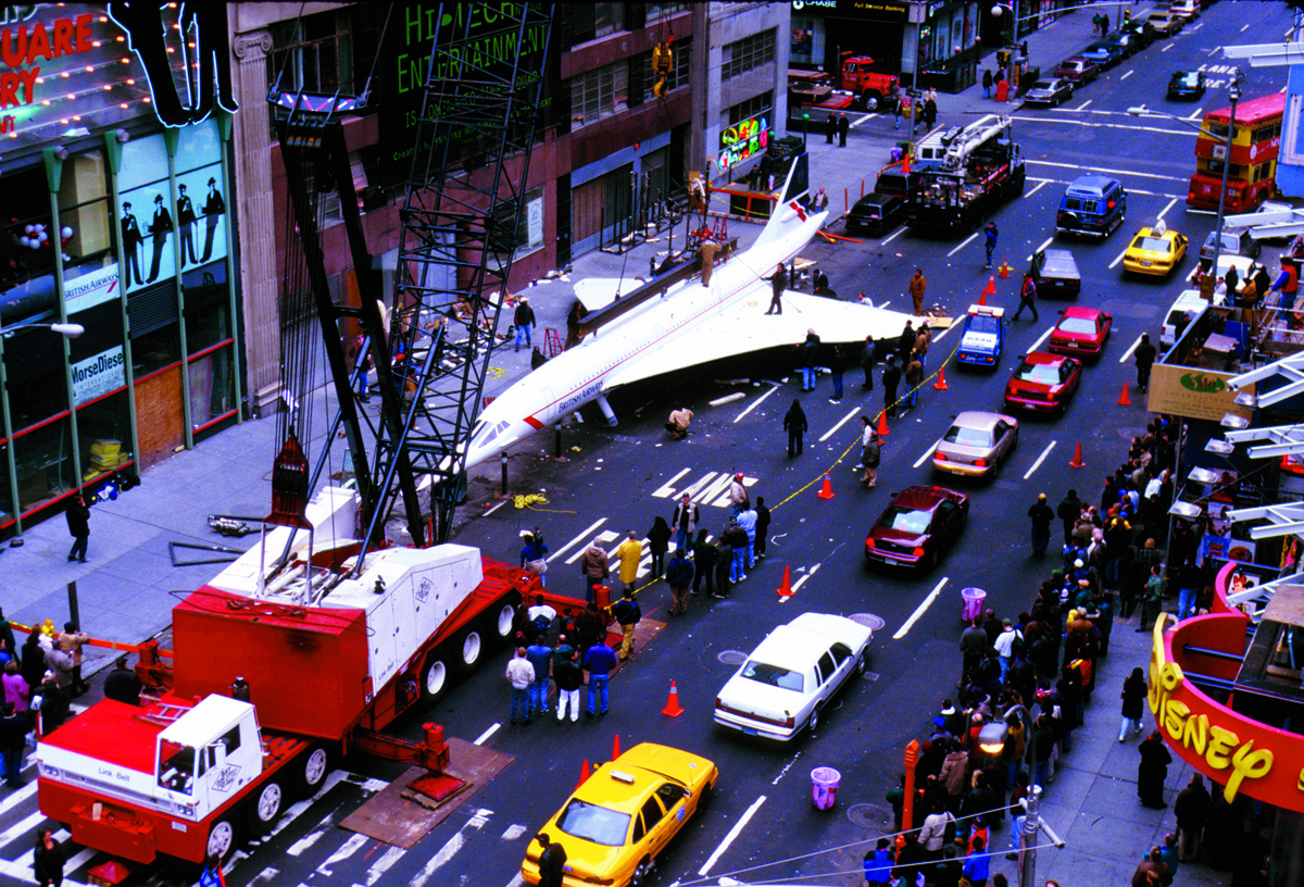As the firm's first client in 1996, Goodman Media handled the media for British Airways for the unveiling of a 100-foot-long replica of the supersonic Concorde jet in New York City's Times Square, generating media coverage around the world.