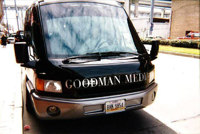 "A fun 20th anniversary memory of ours: the futuristic ""Goodman Media van"" at NCTA in New Orleans years ago. Thanks to our client Andy Mauck of MSV Vehicles, Columbus, Ohio, for delivering it to Louisiana for us. It was great."