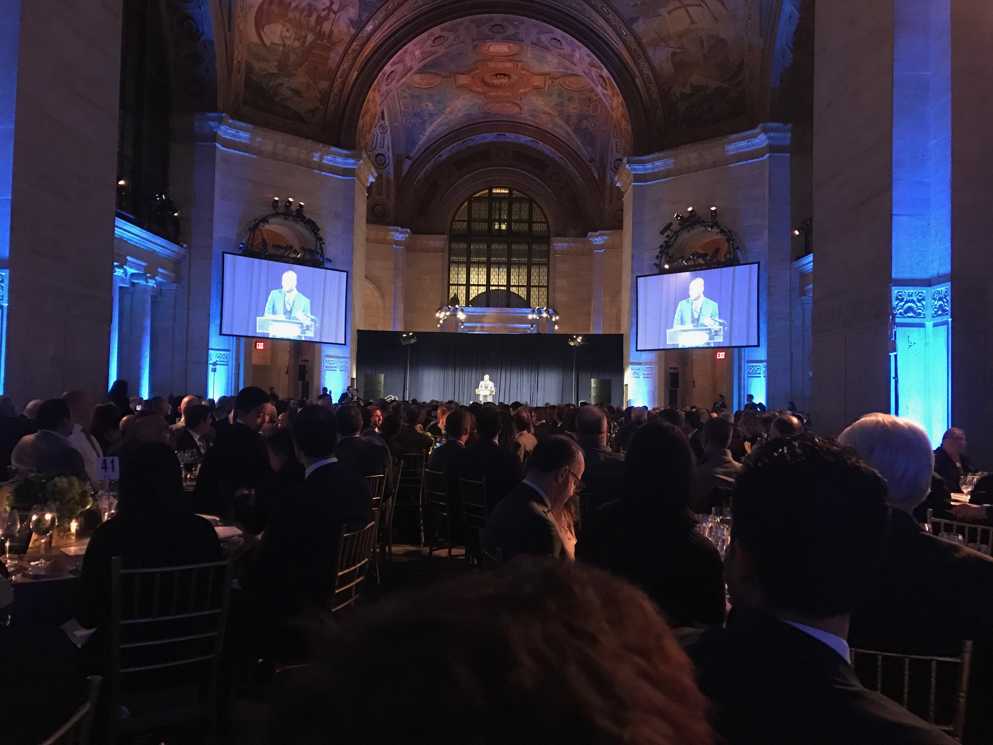 Guests enjoy dinner and a variety of speakers and entertainment at The Safe At Home Foundation's annual gala at Cipriani 25 Broadway.