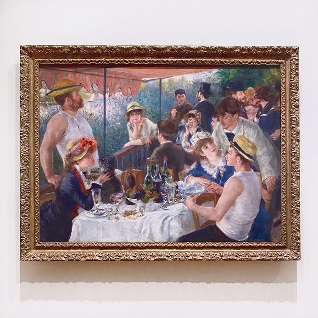 Renoir really knew how to optimize his workday 😆 Pass the @veuveclicquot please! Also did you know this gem is a part of the @phillipscollection in DC? I didn't. Happiest accident I could've ever come across. The museum's guards probably didn't appreciate my enthusiasm 👀 . . . . . #art #culture #renoir #impressionism #boating #yachtlife #yacht #brunch #weekend #veuveclicquot #inspo #inspiration #leisure #artofleisure #lifestyle #work #workworkwork #mondaymood #designyourlife #lifegoals