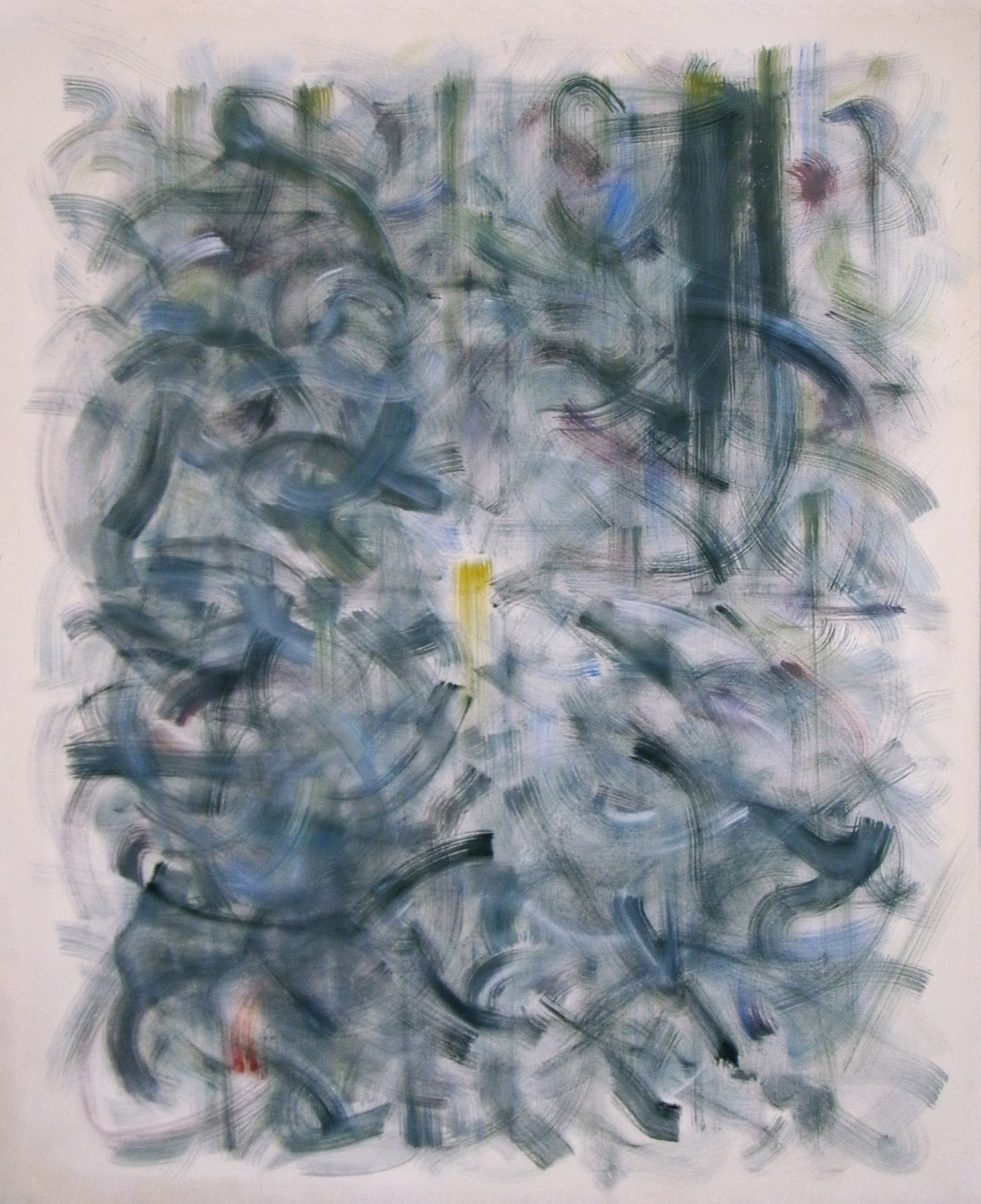 Meditative Structure - MS-I.010 – Letting Go, Oil on Canvas - (early beginnings of meditative structures - 2011)