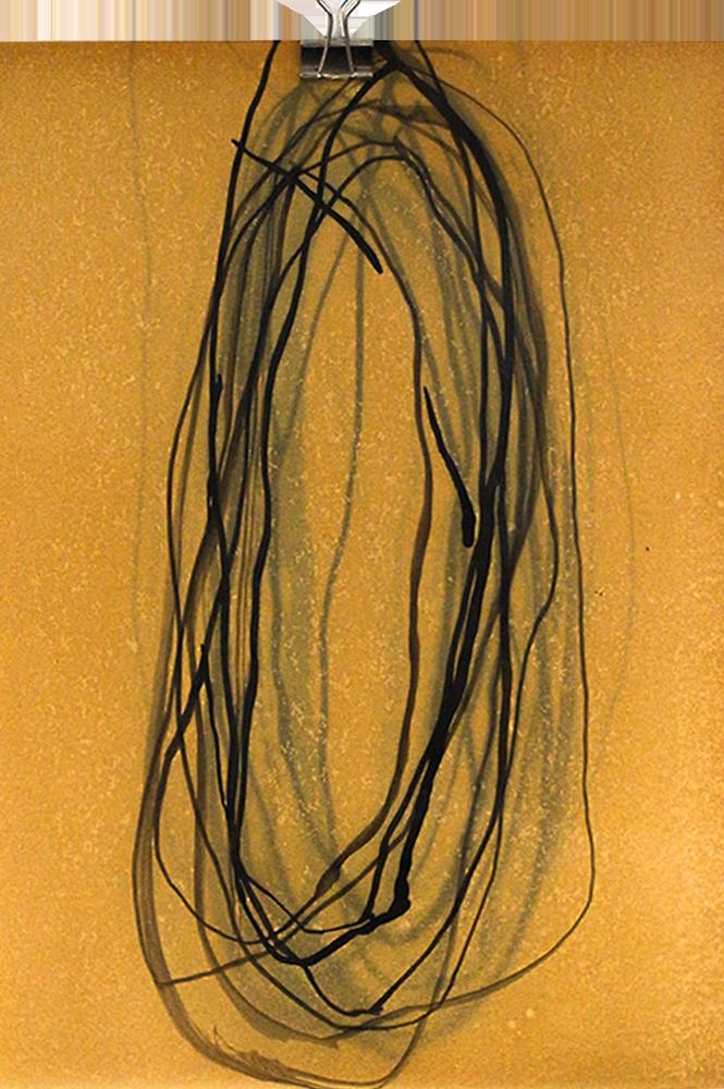 Meditative Structure - MS-IX.001 – Soul Depth, India Ink on Vintage Paper (2013-2018)