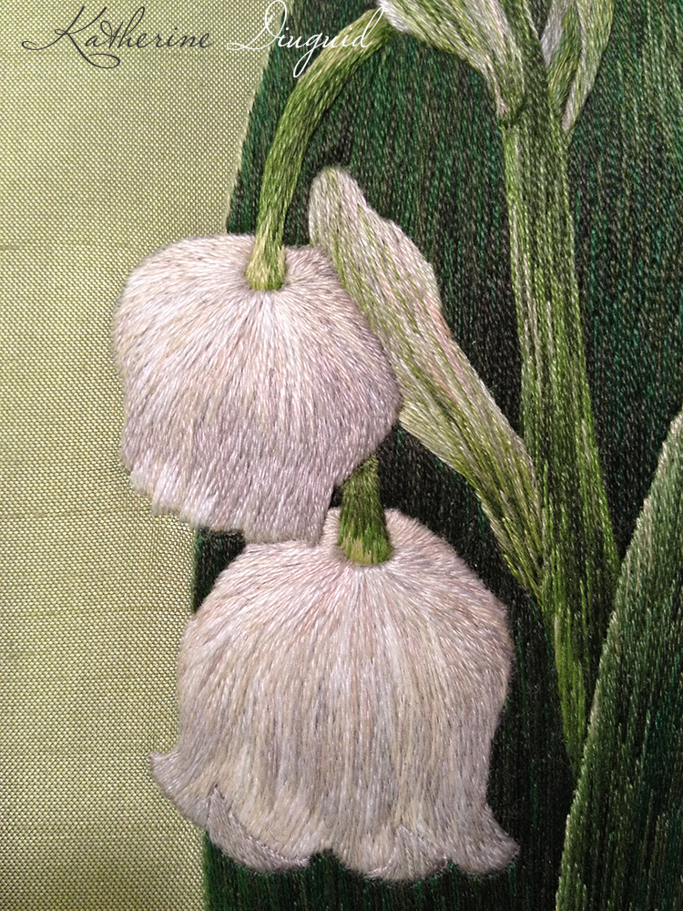 Lily of the Valley Silk Shading- detail