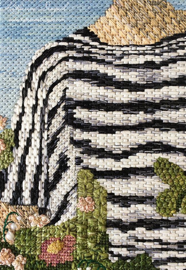 detail- Vogue at Royal Ascot Canvaswork