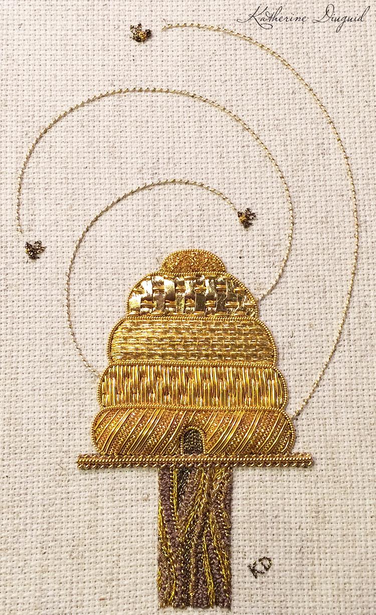 All the Buzz:  Beehive Goldwork Sampler, 2014
