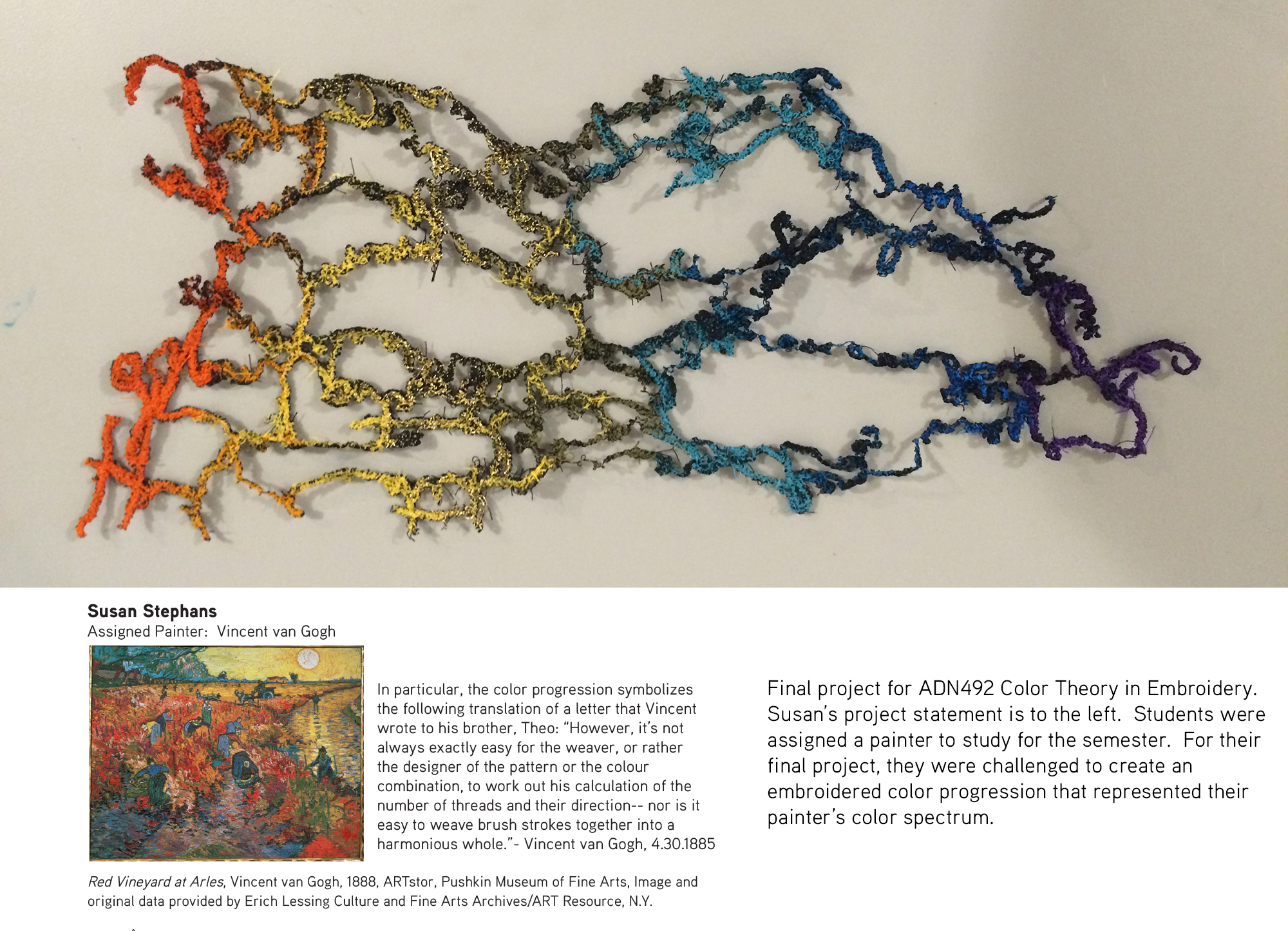 Susan Stephens  ADN492 Color in Embroidery, Fall 2014
